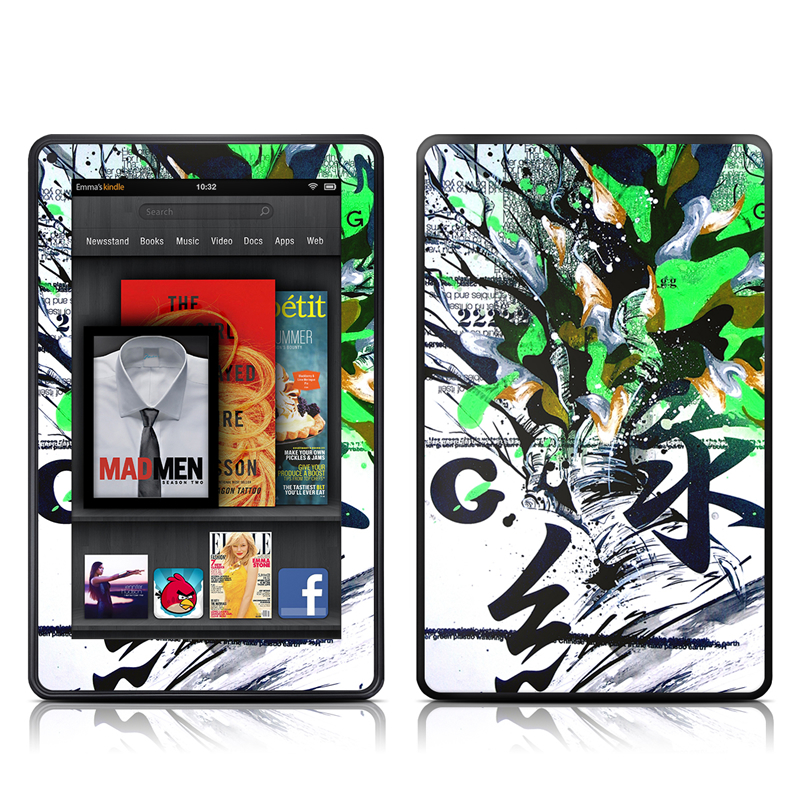 Green 1 Amazon Kindle Fire Skin