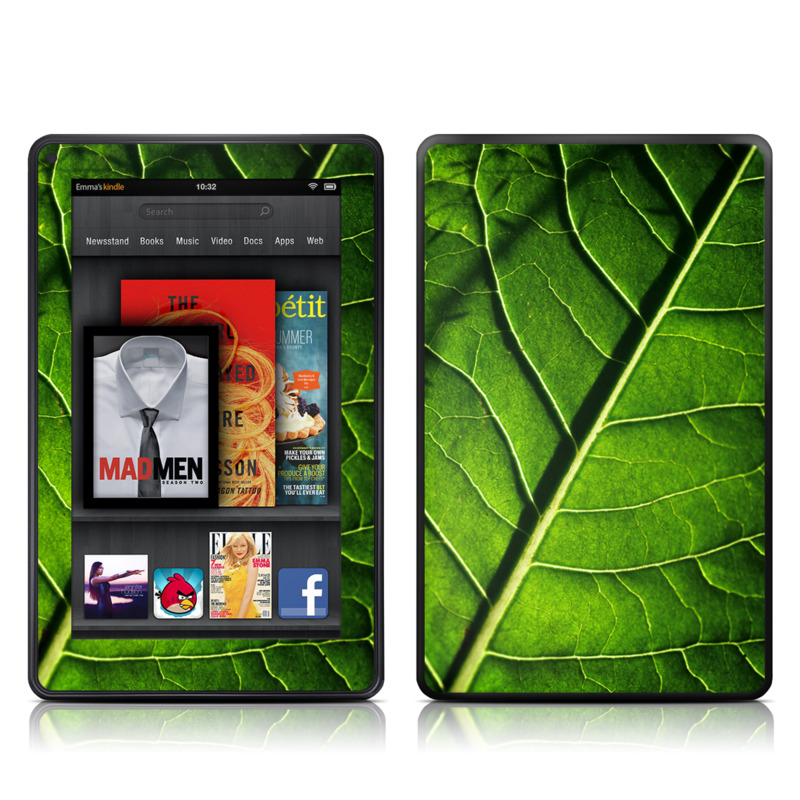 Green Leaf Amazon Kindle Fire Skin