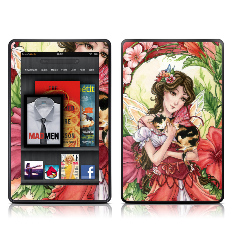 Hibiscus Fairy Amazon Kindle Fire Skin
