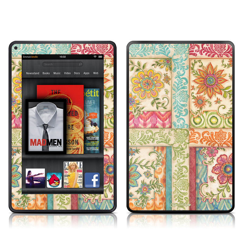 Ikat Floral Amazon Kindle Fire Skin