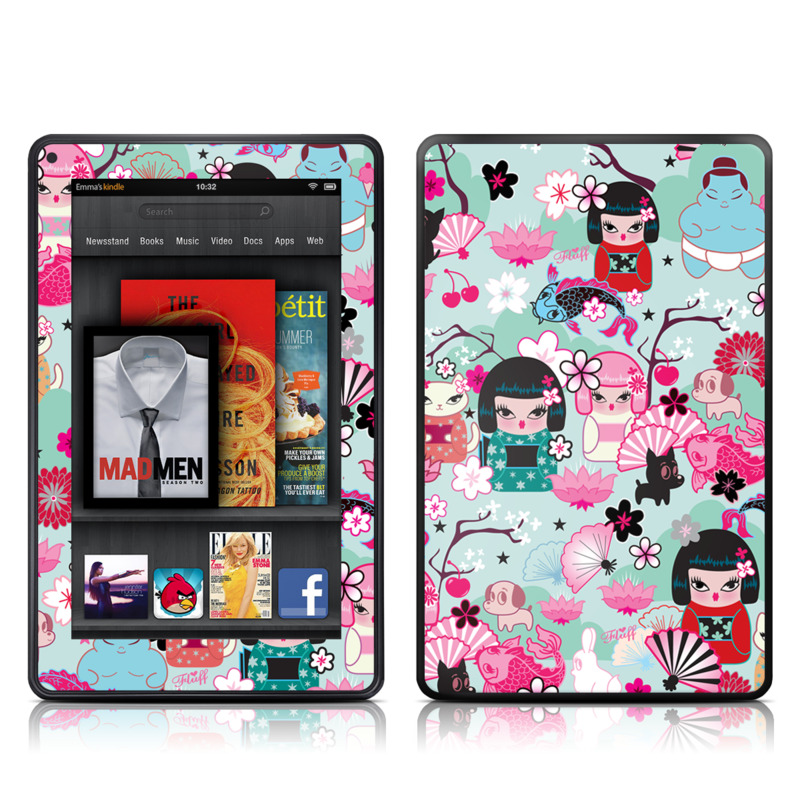 Kimono Cuties Amazon Kindle Fire Skin