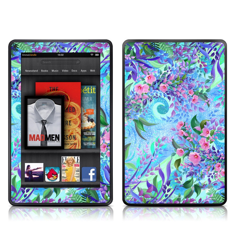 Lavender Flowers Amazon Kindle Fire Skin