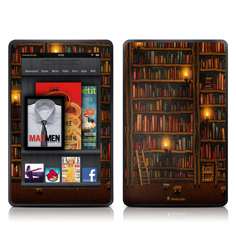 Library Amazon Kindle Fire Skin