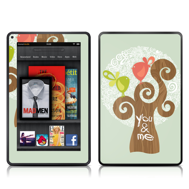Two Little Birds Amazon Kindle Fire Skin