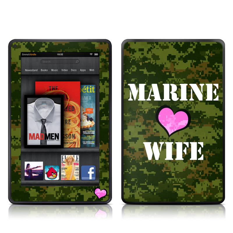 Marine Wife Amazon Kindle Fire Skin