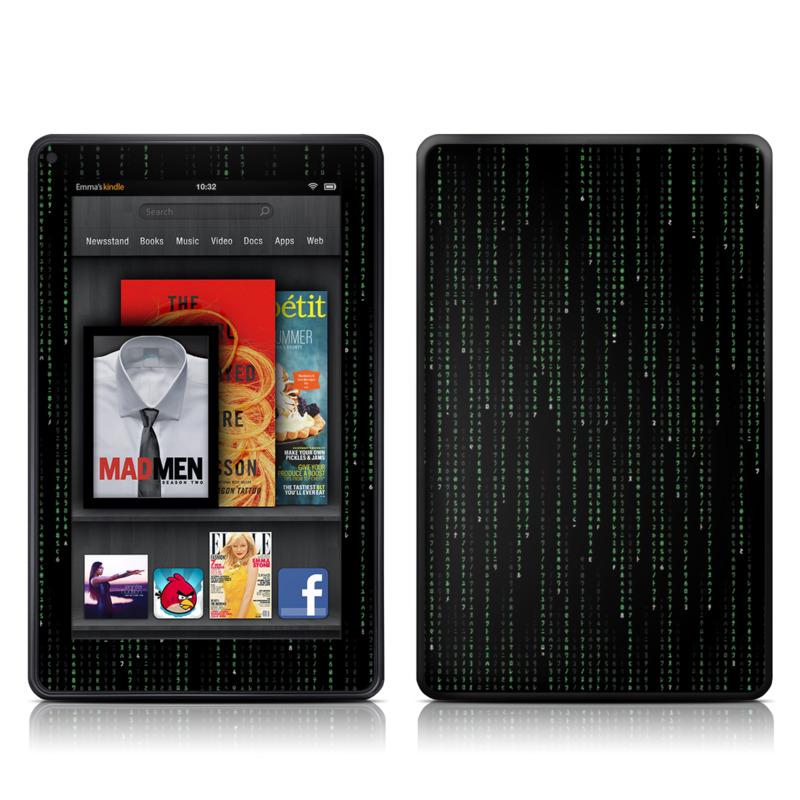 Matrix Style Code Amazon Kindle Fire Skin