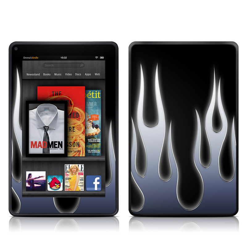 Metal Flames Amazon Kindle Fire Skin
