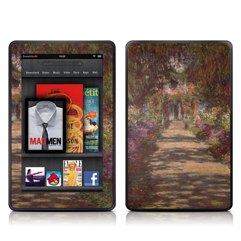 Garden at Giverny Amazon Kindle Fire Skin
