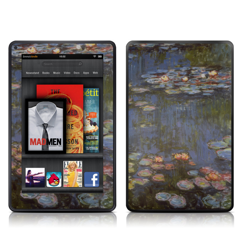 Water lilies Amazon Kindle Fire Skin