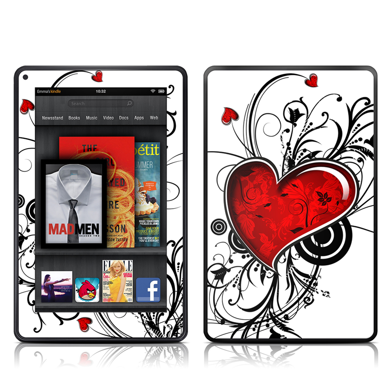 My Heart Amazon Kindle Fire Skin