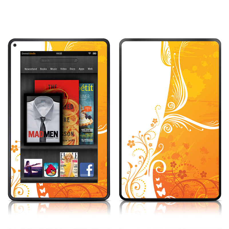 Orange Crush Amazon Kindle Fire Skin