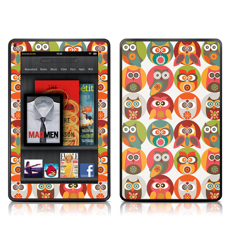 Owls Family Amazon Kindle Fire Skin