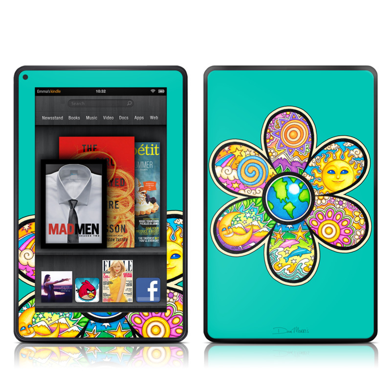 Peace Flower Amazon Kindle Fire Skin