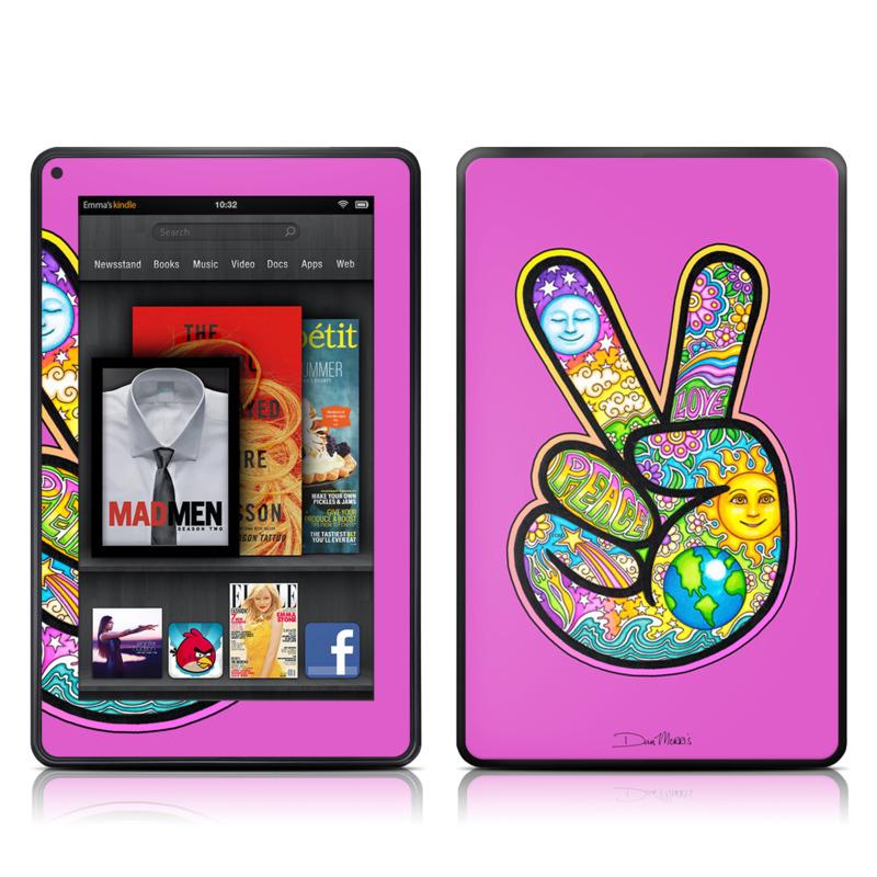 Peace Hand Amazon Kindle Fire Skin