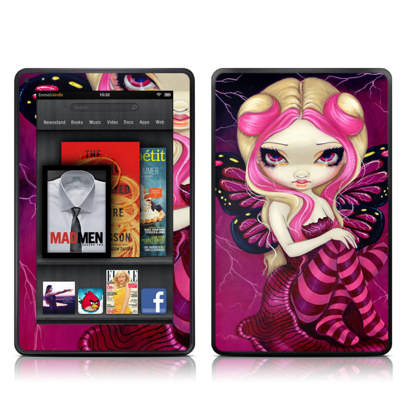 Pink Lightning Amazon Kindle Fire Skin