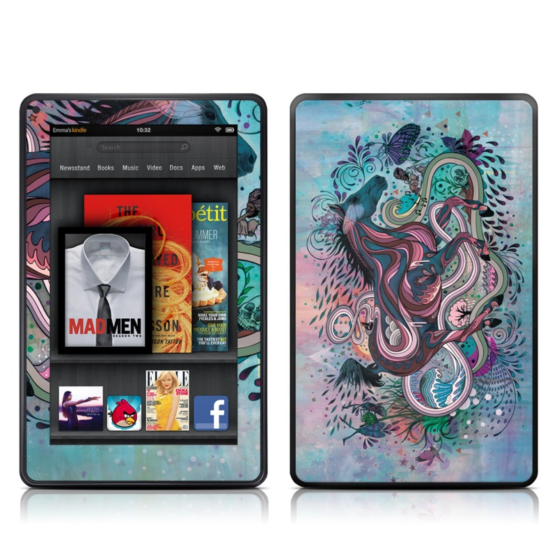 Poetry in Motion Amazon Kindle Fire Skin