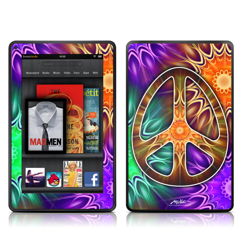 Peace Triptik Amazon Kindle Fire Skin