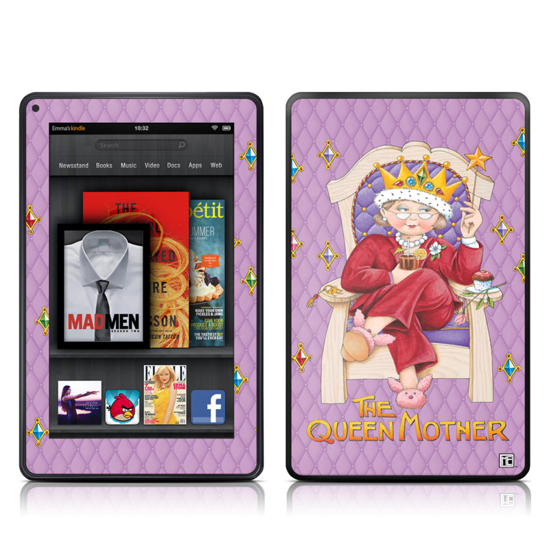 Queen Mother Amazon Kindle Fire Skin