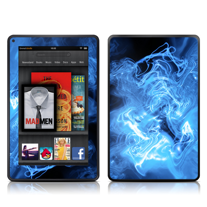 Blue Quantum Waves Amazon Kindle Fire Skin