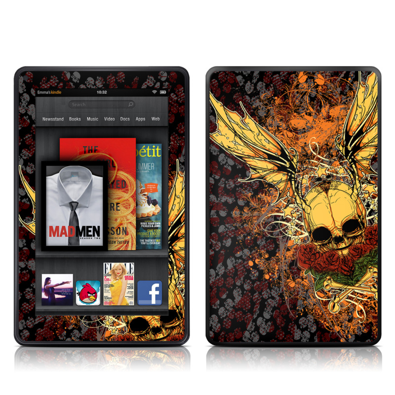 Radiant Skull Amazon Kindle Fire Skin