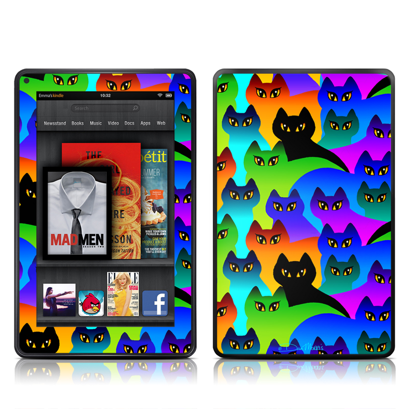 Rainbow Cats Amazon Kindle Fire Skin