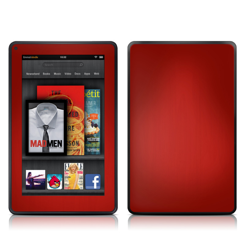 Red Burst Amazon Kindle Fire Skin