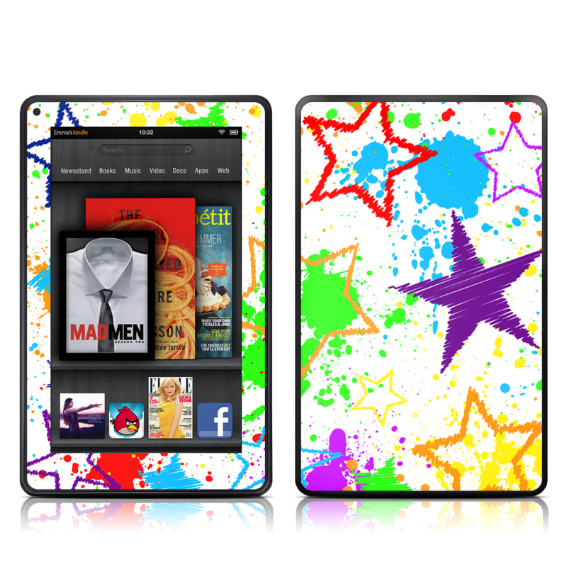 Scribbles Amazon Kindle Fire Skin