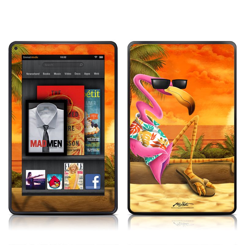 Sunset Flamingo Amazon Kindle Fire Skin