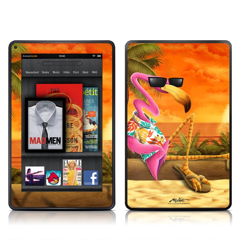 Sunset Flamingo Amazon Kindle Fire Skin