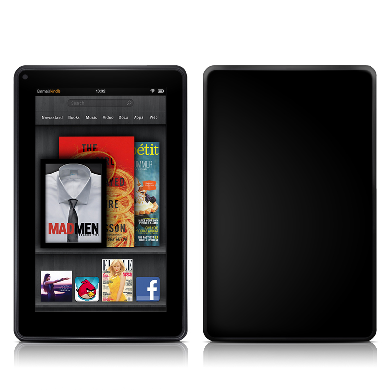 Solid State Black Amazon Kindle Fire Skin