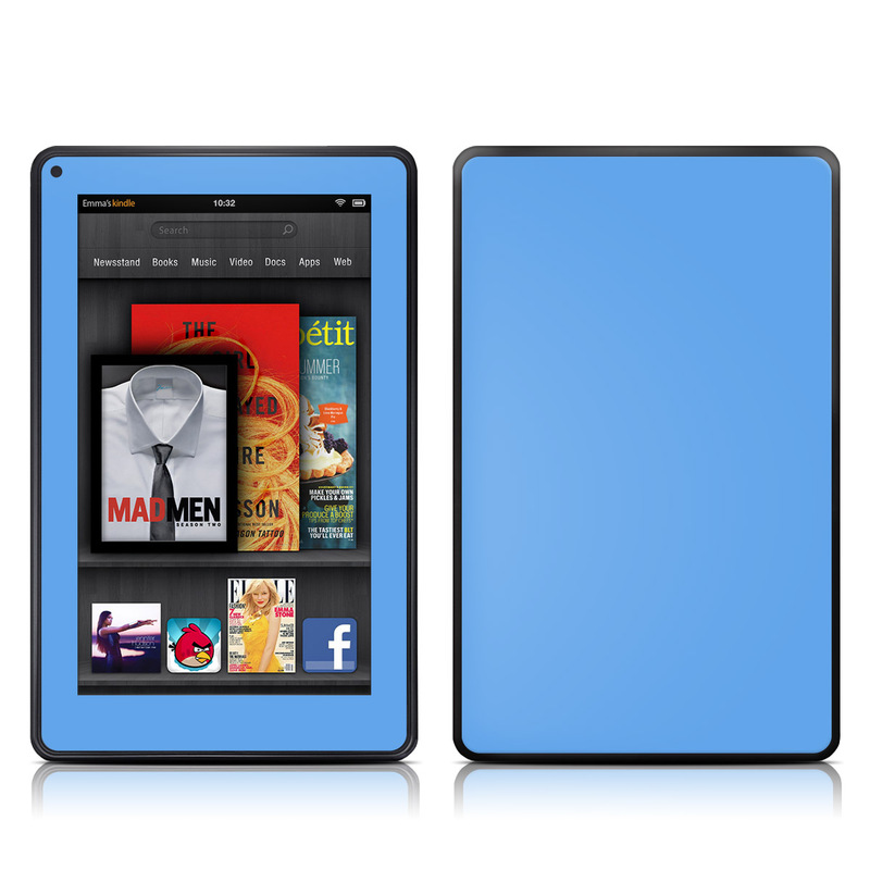 Solid State Blue Amazon Kindle Fire Skin