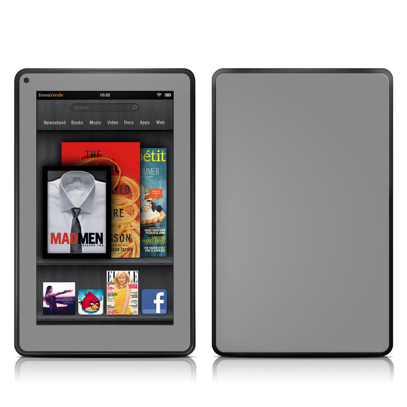 Solid State Grey Amazon Kindle Fire Skin
