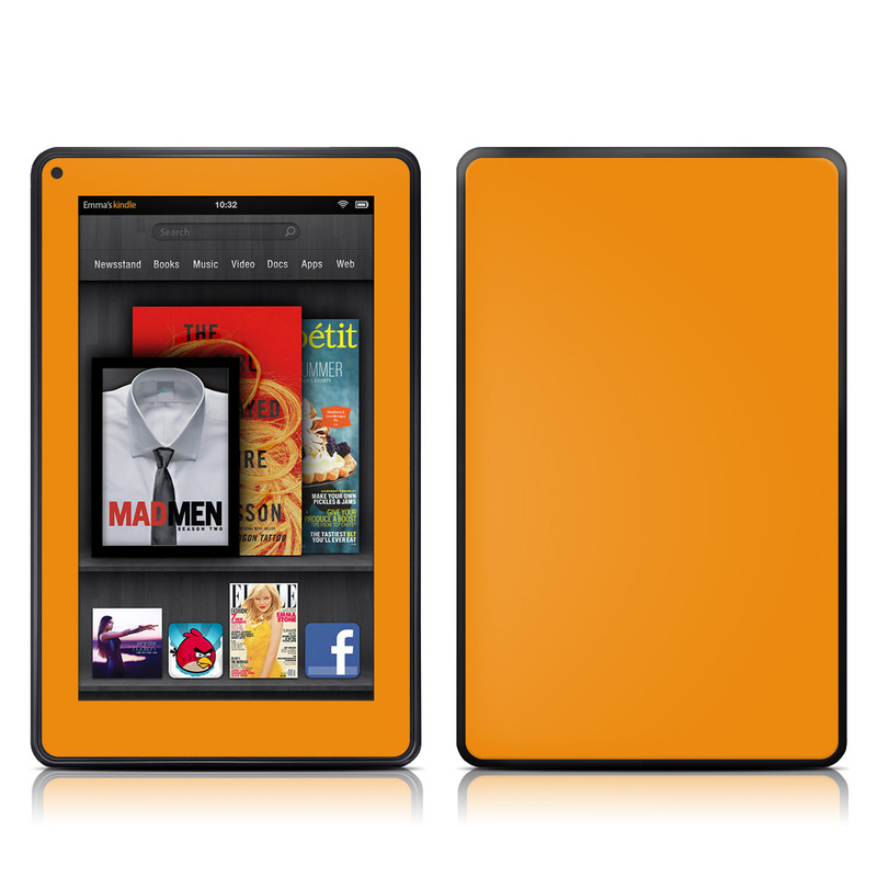 Solid State Orange Amazon Kindle Fire Skin