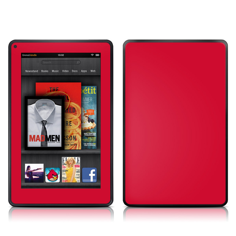 Solid State Red Amazon Kindle Fire Skin