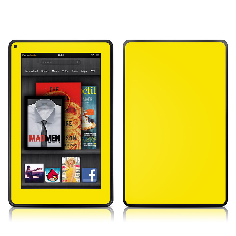 Solid State Yellow Amazon Kindle Fire Skin