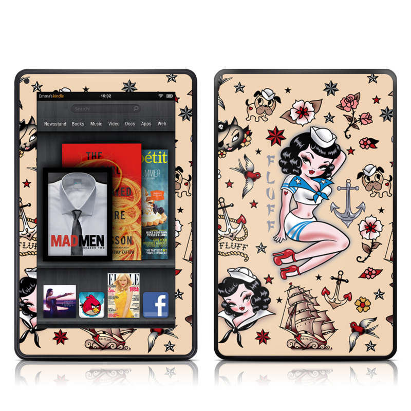 Suzy Sailor Amazon Kindle Fire Skin
