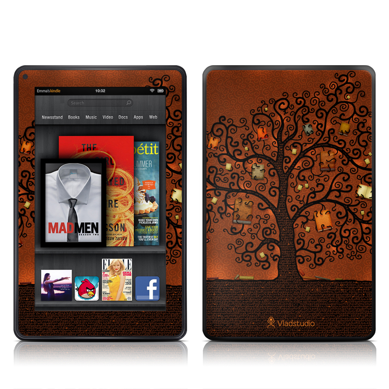 Tree Of Books Amazon Kindle Fire Skin