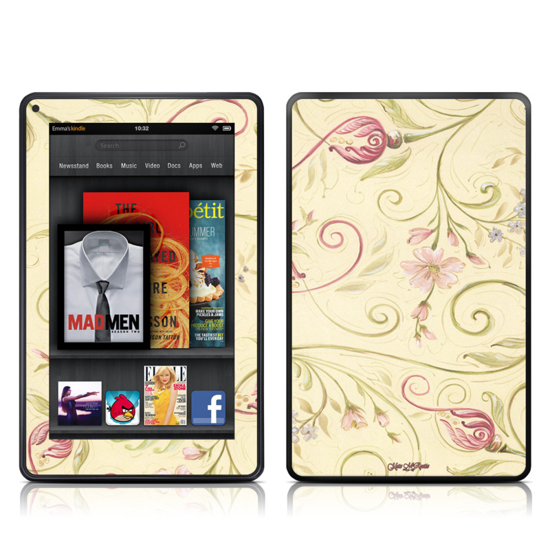 Tulip Scroll Amazon Kindle Fire Skin