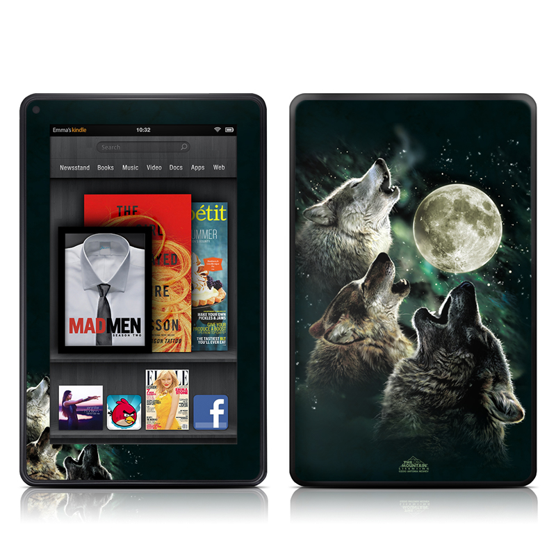 Three Wolf Moon Amazon Kindle Fire Skin