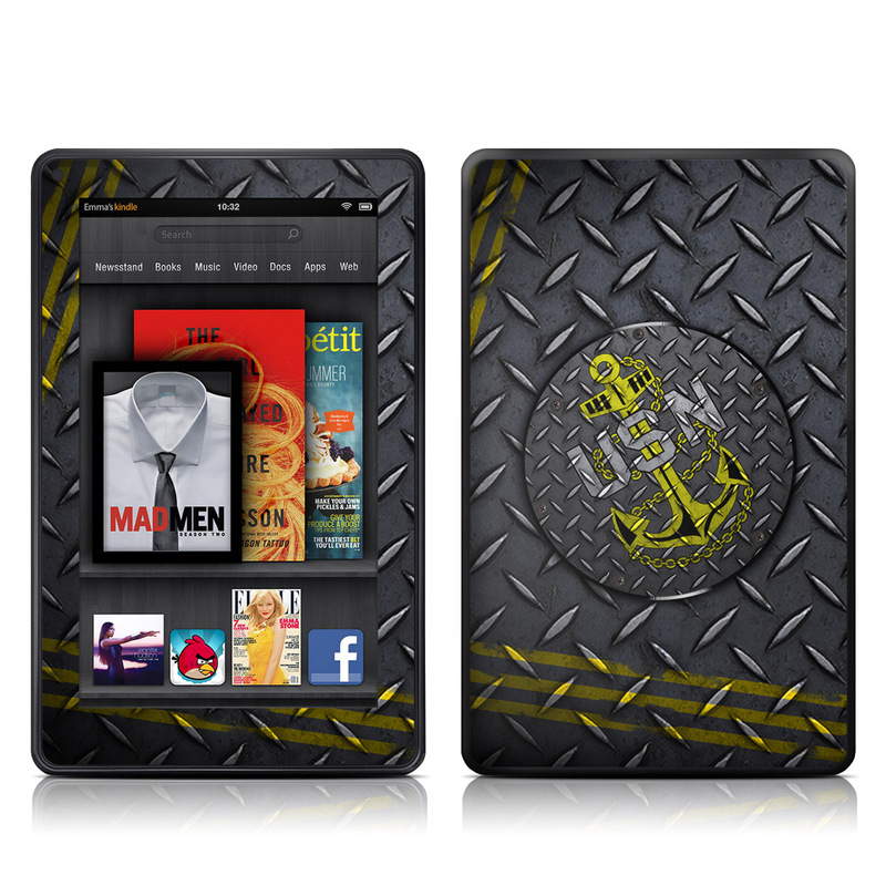 USN Diamond Plate Amazon Kindle Fire Skin