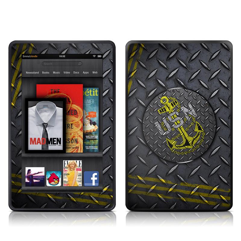 USN Diamond Plate Amazon Kindle Fire Skin