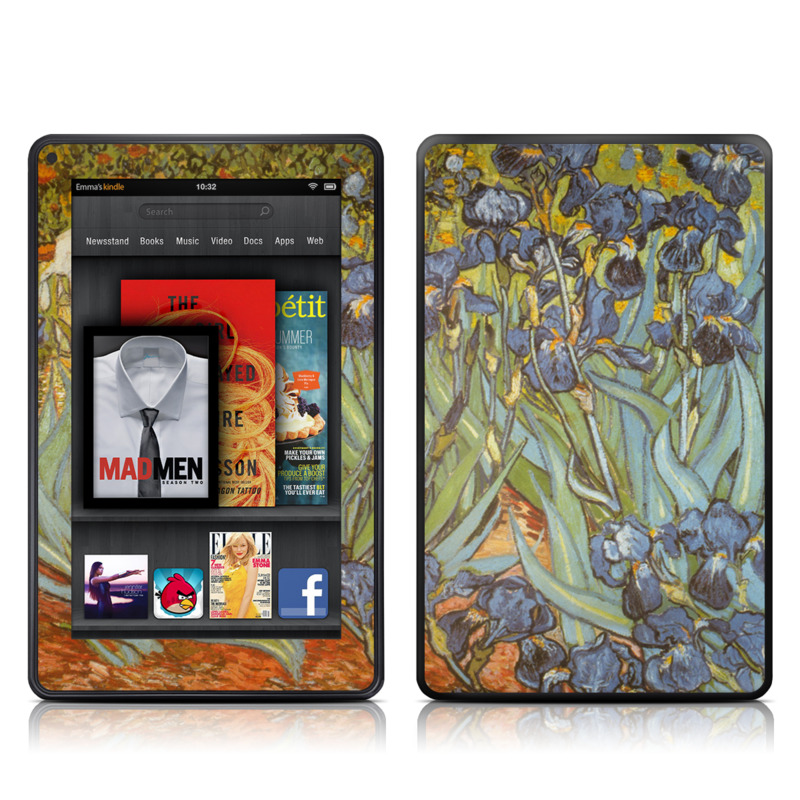 Irises Amazon Kindle Fire Skin