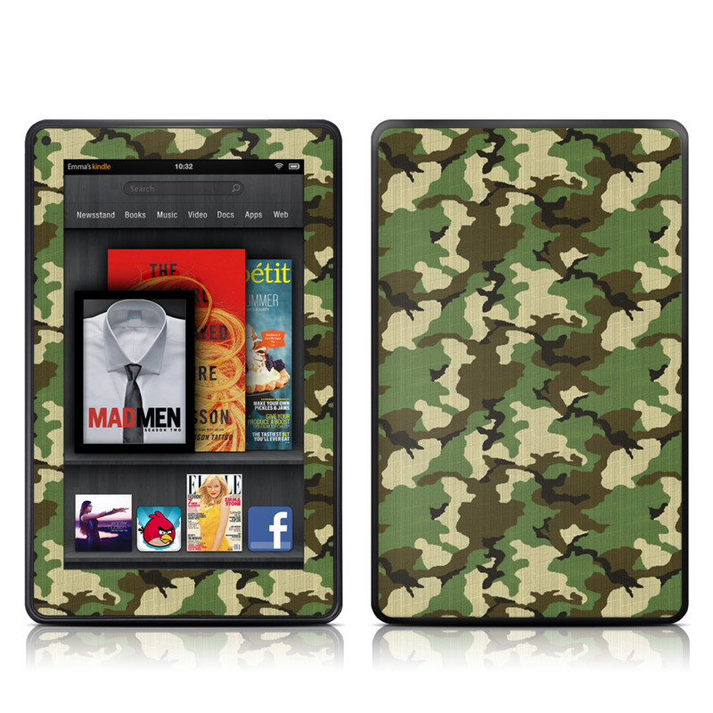 Woodland Camo Amazon Kindle Fire Skin