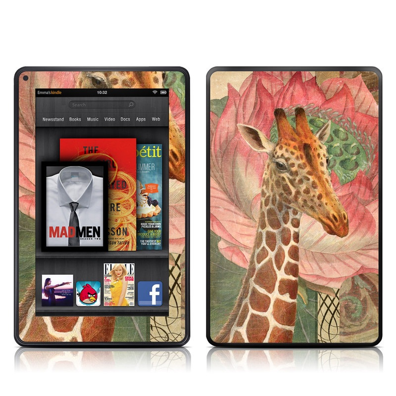 Whimsical Giraffe Amazon Kindle Fire Skin