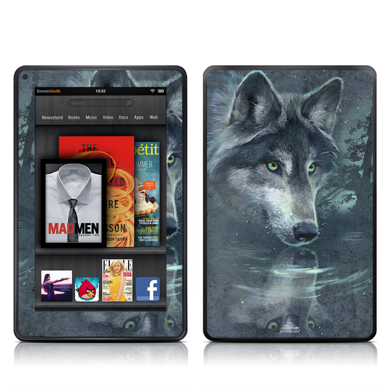 Wolf Reflection Amazon Kindle Fire Skin