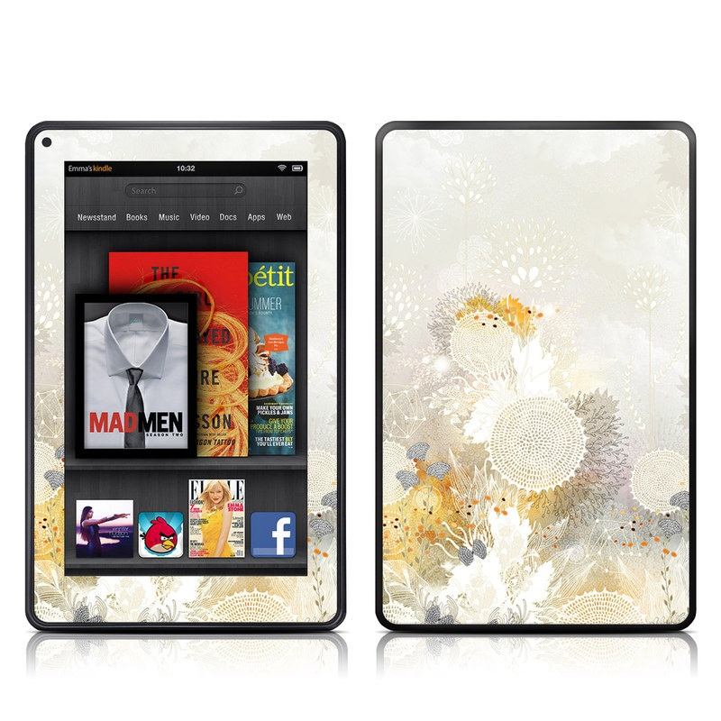 White Velvet Amazon Kindle Fire Skin