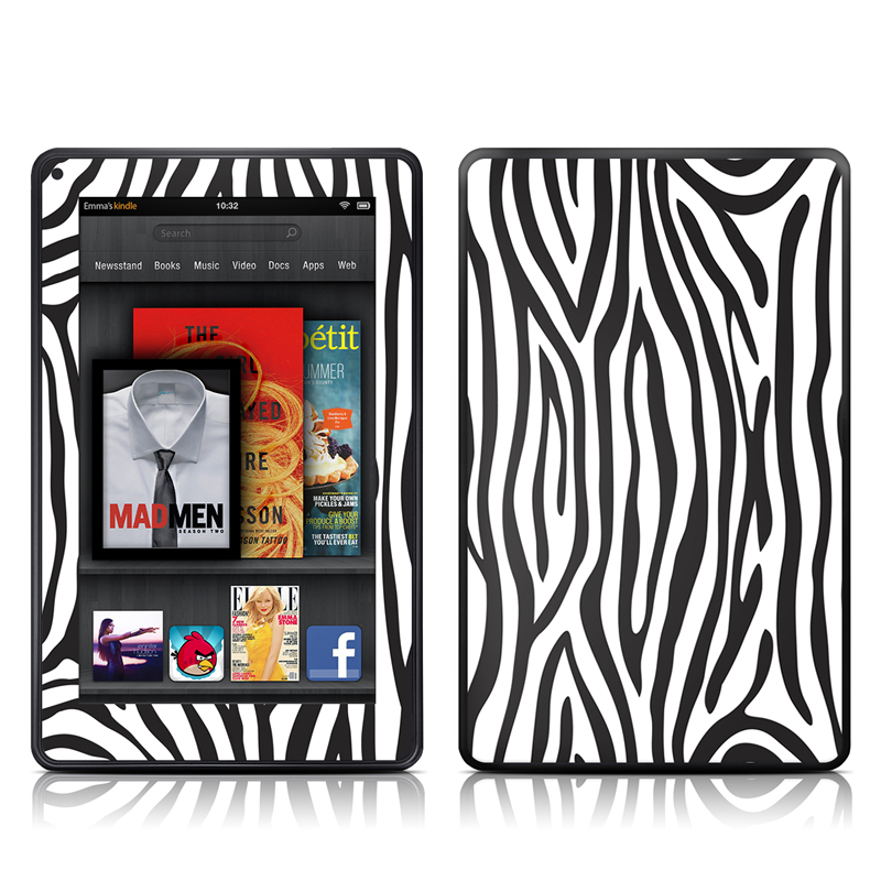 Zebra Stripes Amazon Kindle Fire Skin