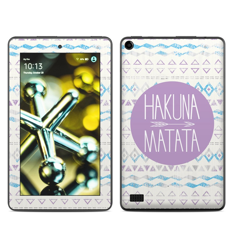 Amazon Fire 2015 Skin design of Text, Font, Aqua, Pattern, Line, Purple, Turquoise, Teal, Design, Textile with gray, white, yellow, pink, purple colors