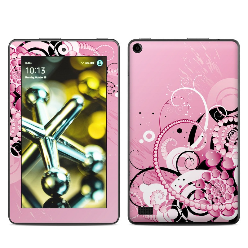 Amazon Fire 2015 Skin design of Pink, Floral design, Graphic design, Text, Design, Flower Arranging, Pattern, Illustration, Flower, Floristry with pink, gray, black, white, purple, red colors