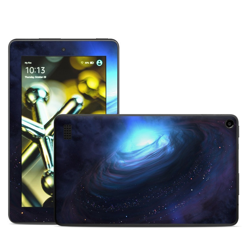 Amazon Fire 2015 Skin design of Blue, Outer space, Light, Sky, Atmosphere, Space, Universe, Astronomical object, Darkness, Graphics with black, blue, purple colors